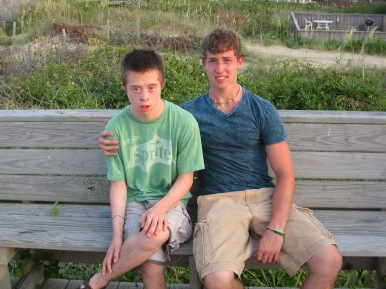 Nick and his brother, Hank at the Outer Banks, NC