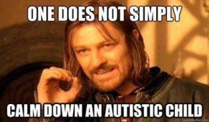 calm down autistic child