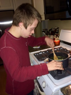 Nick cooking