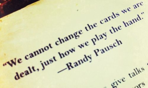 Randy Pausch cards dealt with