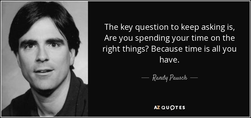 Randy Pausch spending time