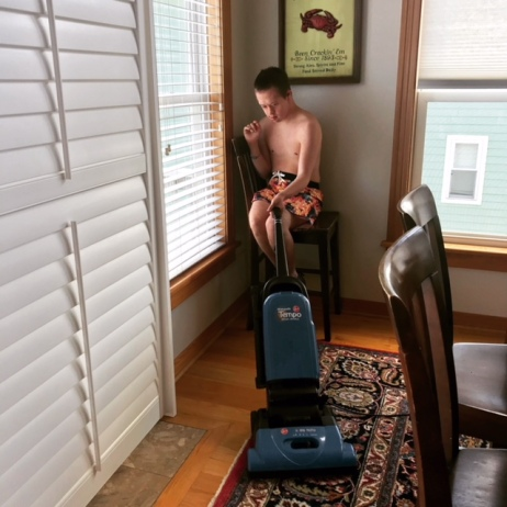 nick vacuume in swimsuit