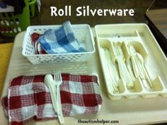 silverware rolling