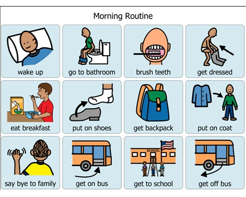social story morning routine