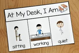 social story working desk