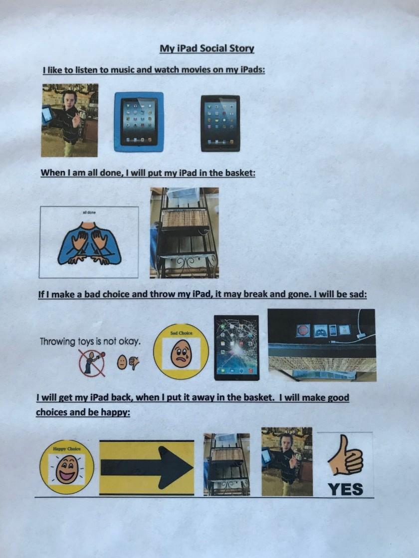 iPad social story