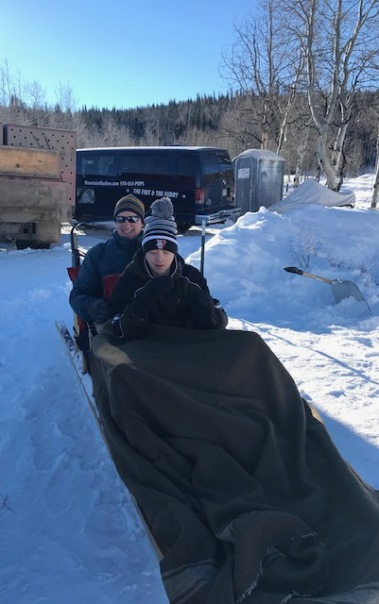 Nick and Dad dogsled 2019