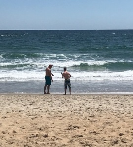 Nick and Dad OBX beach 2019