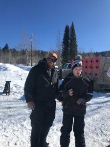 Nick and Cameron Dog Sledding 2019