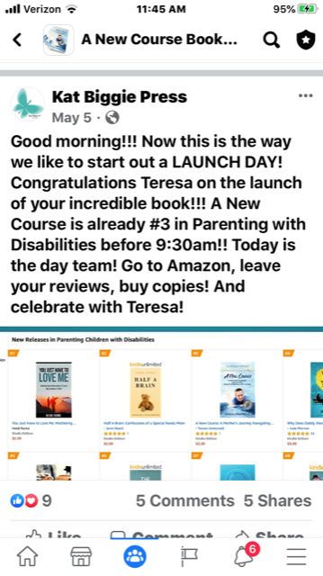 Book Launch Amazon ranking